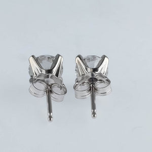 14K White Gold 1.28ctw Round Diamond SI2/H Stud Pierced Earrings Earrings Oaks Jewelry