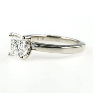 14K White Gold GIA 0.95ct Princess Diamond Solitaire Engagement Ring Size 5 Engagement Rings Oaks Jewelry