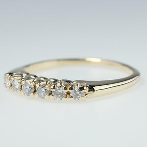 14K Yellow Gold 0.30ctw Diamond Accents Wedding Band Ring Size 7.25 Wedding Rings Oaks Jewelry