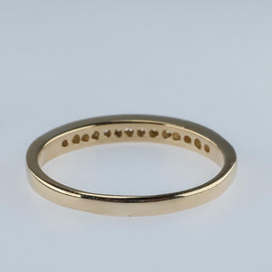 14K Yellow Gold 0.30ctw Diamond Accents Wedding Band Ring Size 9 Wedding Rings Oaks Jewelry