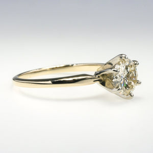 14K Yellow Gold 1.20ct Round Diamond Solitaire Engagement Ring Size 7.25 Engagement Rings Oaks Jewelry