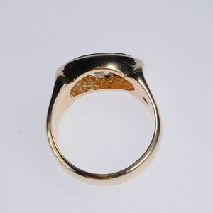 14K Yellow Gold 1.62ctw East-West VS2/I Marquise Diamond Halo Ring Diamond Rings Oaks Jewelry