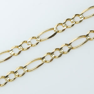"14K Yellow Gold 6.0mm Wide Figaro Link 23"" Chain Necklace - 25.9 grams Chains Oaks Jewelry"