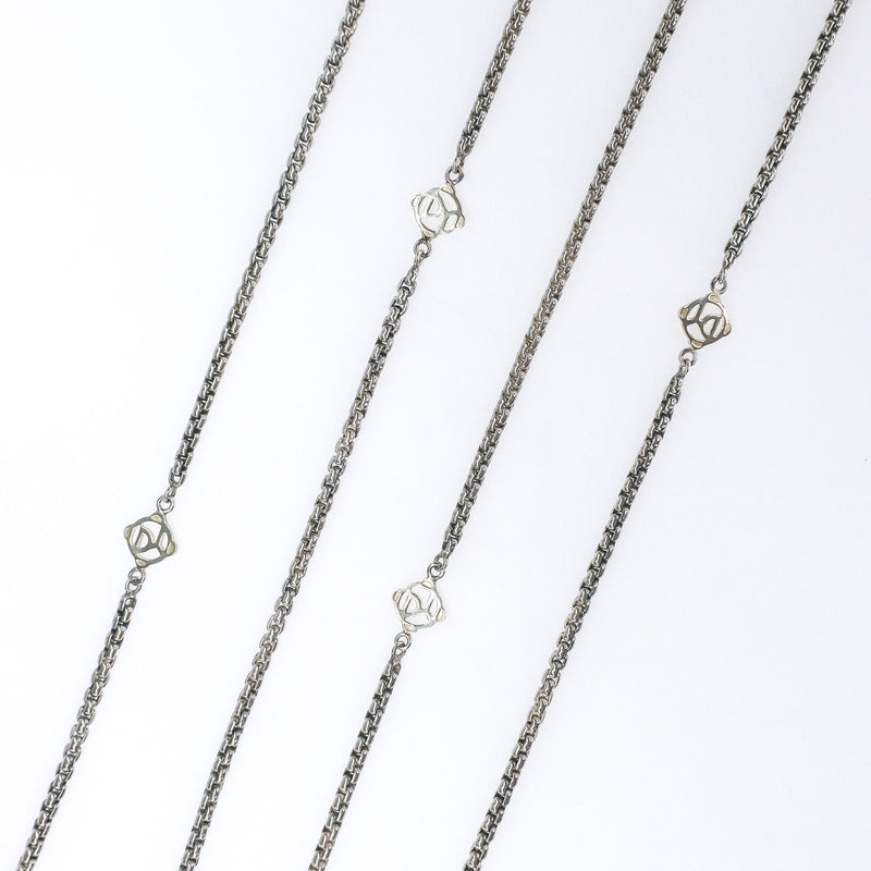 "14K Yellow Gold & Silver Sterling David Yurman Logo Chain 72"" Necklace Necklaces David Yurman"