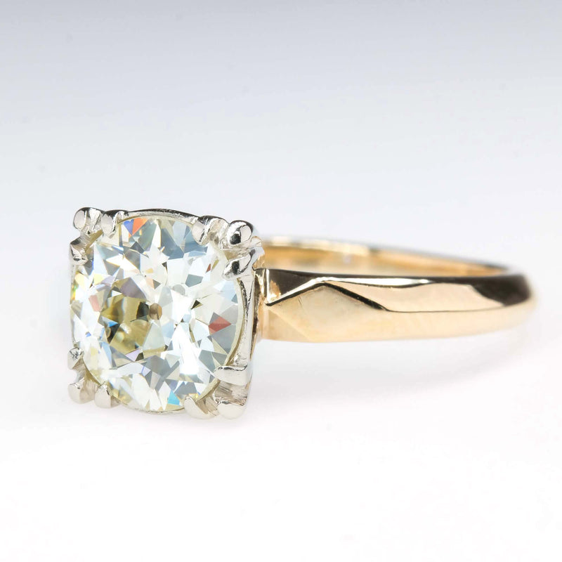 1.50ct Old European Cut Diamond Vintage Engagement Ring in 14K Yellow Gold Engagement Rings Oaks Jewelry