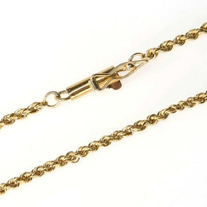 "16"" Rope Chain in 14K Yellow Gold - 4.1 grams Chains Oaks Jewelry"