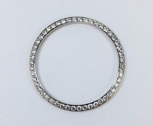 18K White Gold 1.50ctw Round Diamond Channel Set Watch Bezel Accessory 4.7 grams Watch Accessories OaksJewelry