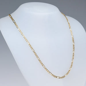 "18K Yellow Gold 3.3mm Wide Figaro Link 28"" Chain Necklace - 20.2 grams Chains Oaks Jewelry"