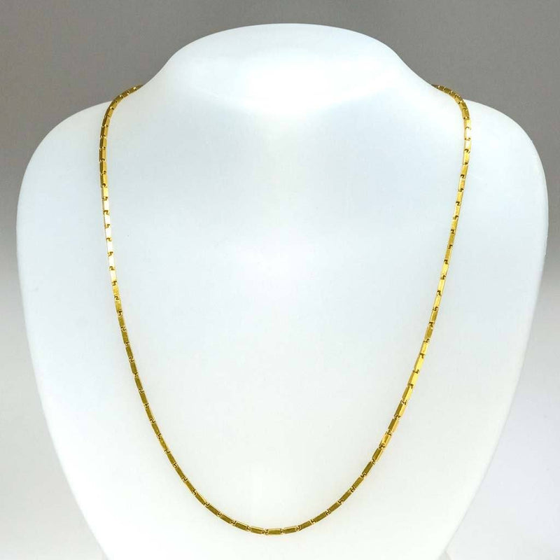 "1.8mm Wide Baht 21.5"" Chain in 22K Yellow Gold Chains Oaks Jewelry"