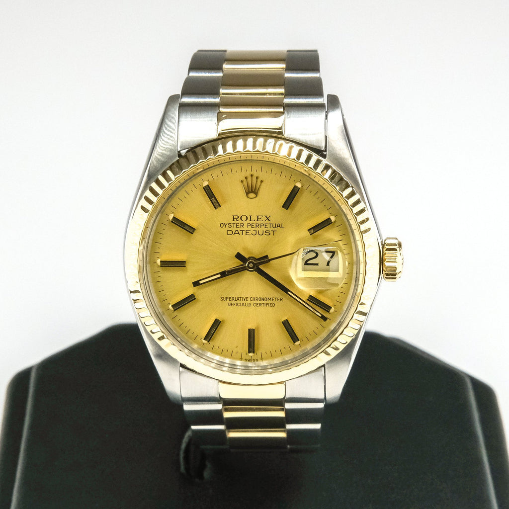 1984 Men's Rolex Datejust 18K Yellow Gold & Stainless Steel 36mm Watch Watches Rolex