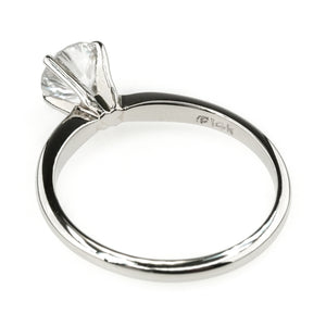 back view of the diamond round solitaire engagement ring