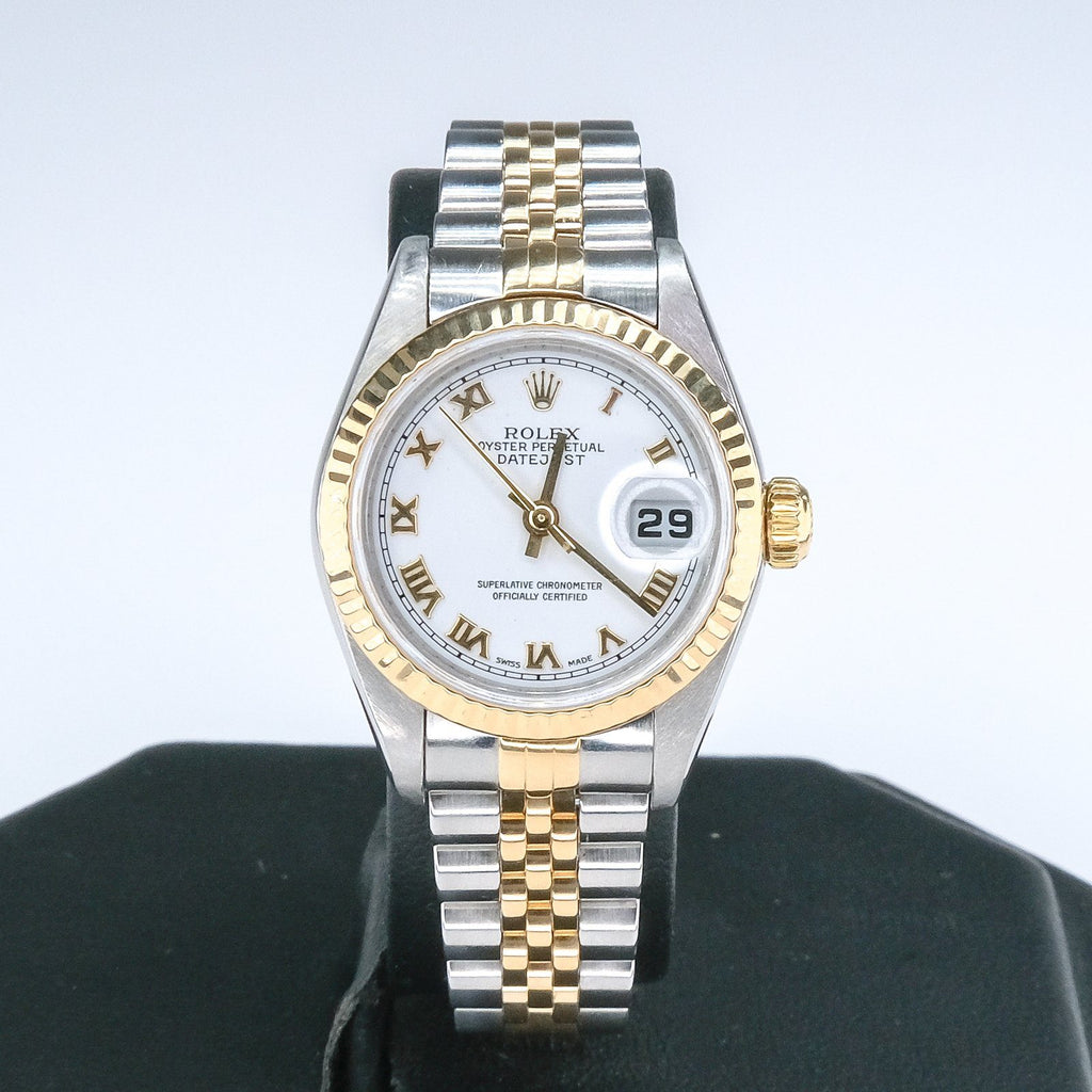 2002 Ladies Rolex 18K Yellow Gold & Stainless Oyster Perpetual Datejust Watch Watches Rolex