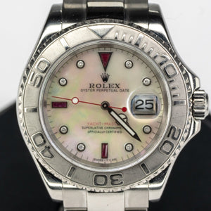 2005 Rolex Platinum & Stainless Yachtmaster Watch w/ Aftermarket Dial 40mm 16622 Watches Rolex