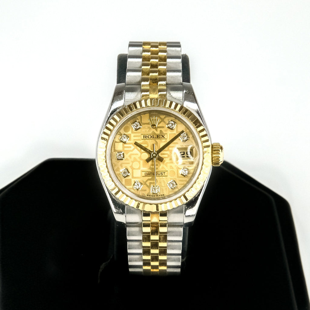 2006 Ladies Rolex Datejust Champagne Jubilee Diamond Dial 18K & Stainless 179173 Watch Watches Rolex
