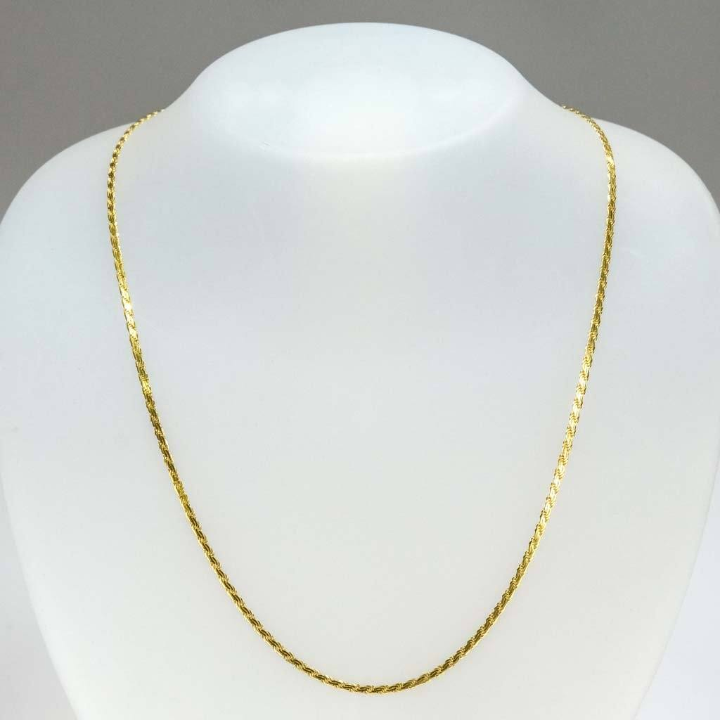 "2.2mm Wide Flat Rope 20"" Chain in 14K Yellow Gold Chains Oaks Jewelry"