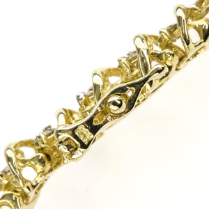 "2.50ctw Round Diamond Accented Tennis 8"" Bracelet in 14K Yellow Gold Bracelets Oaks Jewelry"