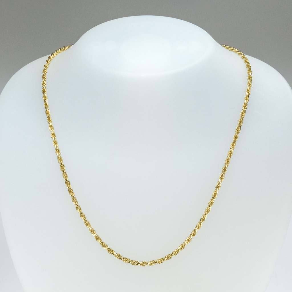 "2.8mm Wide Rope 18.25"" Chain in 14K Yellow Gold Chains Oaks Jewelry"