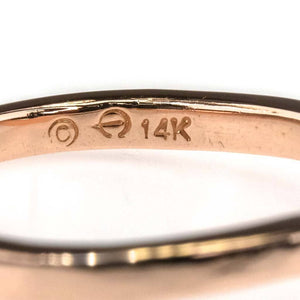 2mm Wide Contour Wedding Band in 14K Rose Gold Wedding Rings Oaks Jewelry