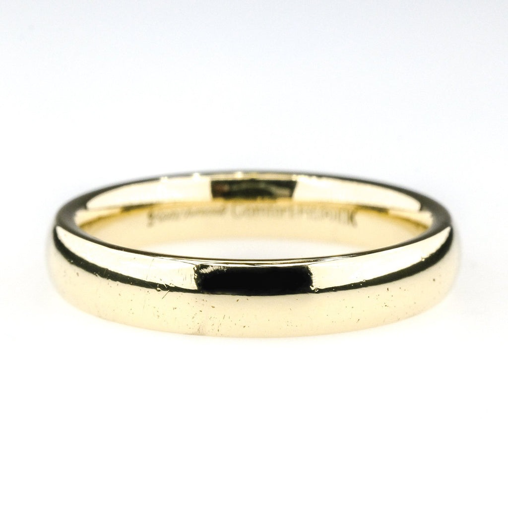 3.7 mm Wide Comfort Fit Wedding Band Ring Size 6 in 10K Yellow Gold Wedding Rings Oaks Jewelry