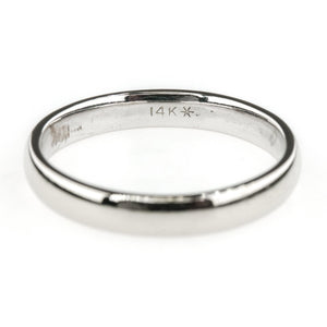 3mm Wide Comfort Fit Wedding Band Ring Size 5.75 in 14K White Gold Wedding Rings Oaks Jewelry