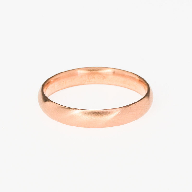 4.2mm Wide Comfort Fit Satin Finish Wedding Band Ring Size 12.5 in 10K Rose Gold Wedding Rings Oaks Jewelry