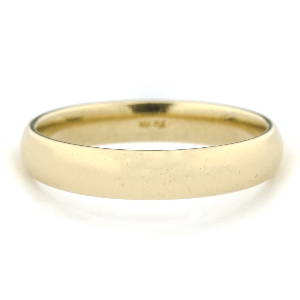 4.4mm Wide Comfort Fit Wedding Band in 14K Yellow Gold Wedding Rings Oaks Jewelry