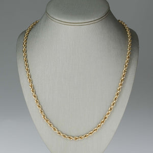"4.5mm Wide Rope 28"" Chain in 14K Yellow Gold Chains Oaks Jewelry"