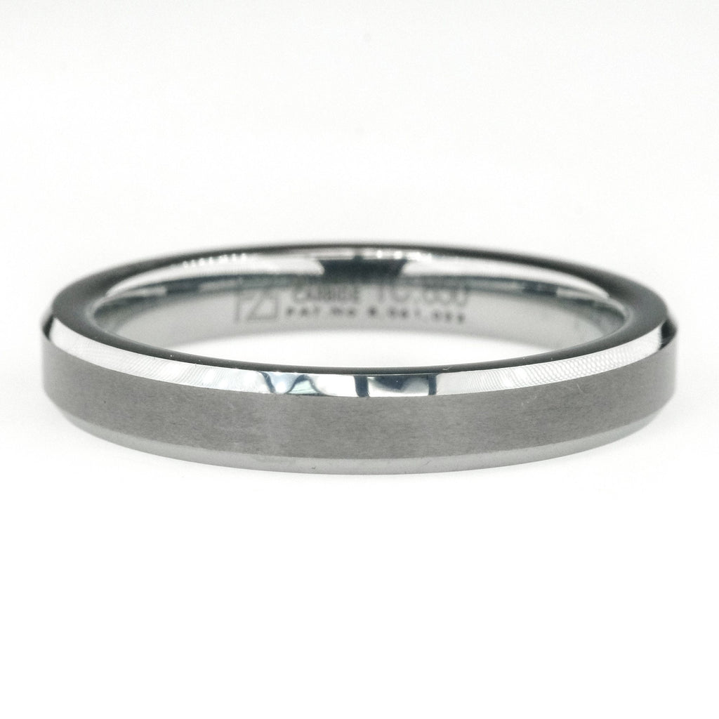 4mm Comfort Fit Gunmetal Grey Men's Wedding Band Ring in Tungsten Carbide Wedding Rings Oaks Jewelry