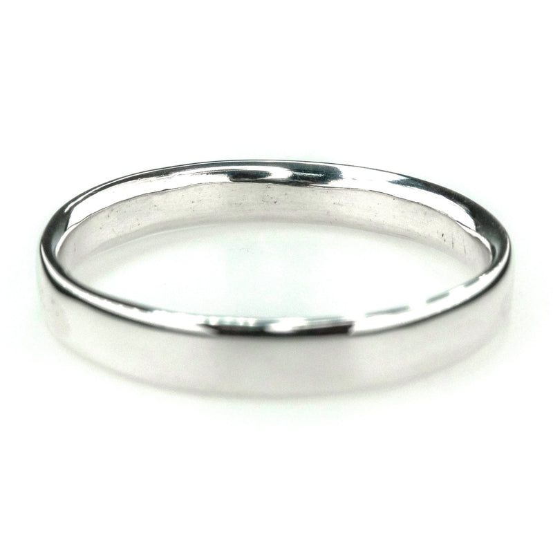 4mm Wide Comfort Fit Men's Wedding Band Ring Size 15.25 in Sterling Silver Wedding Rings Oaks Jewelry
