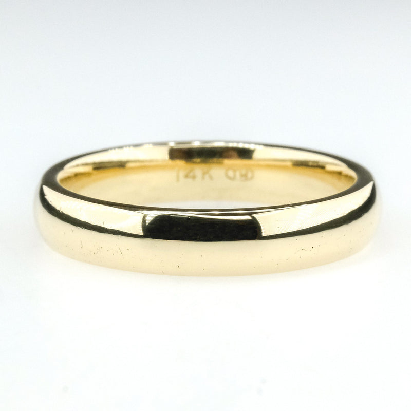4mm Wide Comfort Fit Plain Wedding Band Ring Size 8 in 14K Yellow Gold Wedding Rings Oaks Jewelry