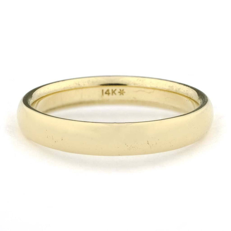 4mm Wide Comfort Fit Wedding Band in 14K Yellow Gold Wedding Rings Oaks Jewelry