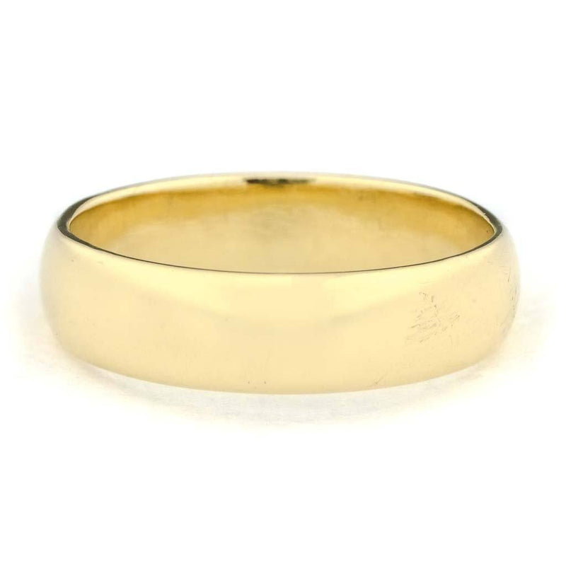 5.9mm Wide Half Round Wedding Ring in 14K Yellow Gold Wedding Rings Oaks Jewelry