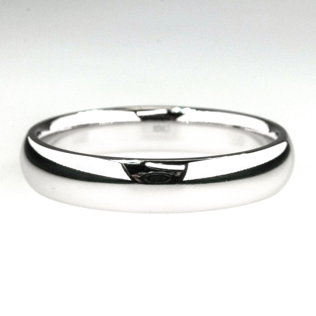 5mm Wide Comfort Fit Men's Wedding Band Ring Size 14.5 in 10K White Gold Wedding Rings Oaks Jewelry