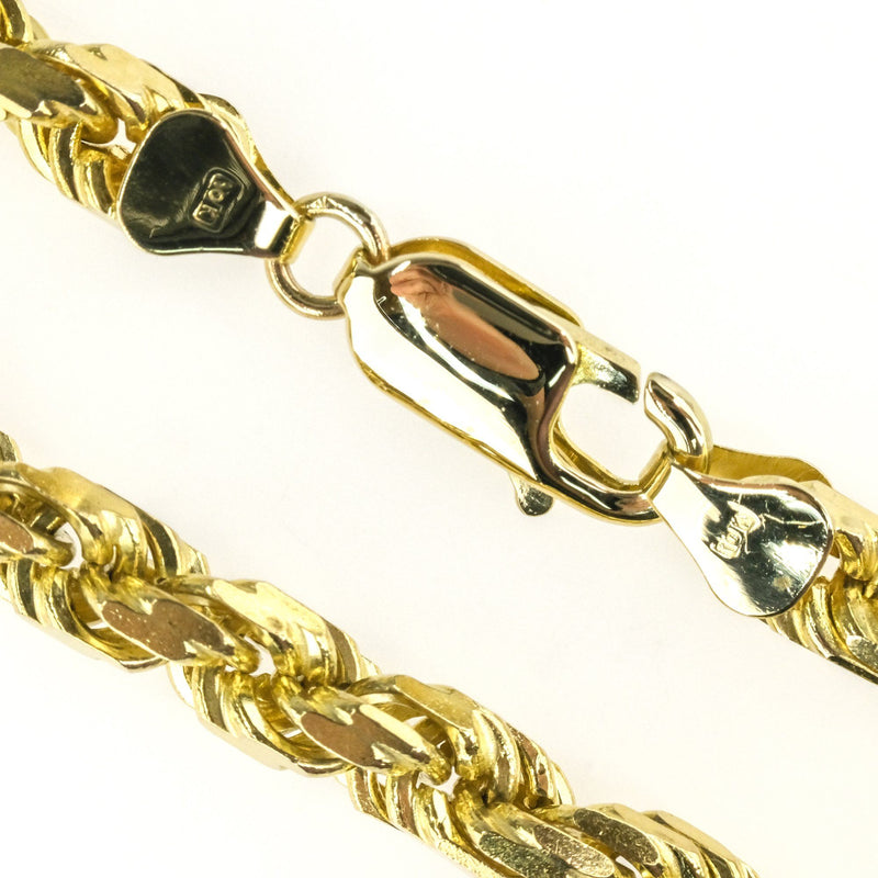 "5mm Wide Rope Link 30"" Chain in 10K Yellow Gold - 66.7 grams Chains Oaks Jewelry"