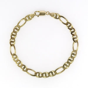 "6.4mm Wide Mariner Link 8.25"" Bracelet in 14K Yellow Gold - 12.8 grams Bracelets Oaks Jewelry"