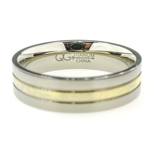 6mm Wide Ridged Comfort Fit Men's Wedding Band Size 15 in Titanium Wedding Rings Oaks Jewelry