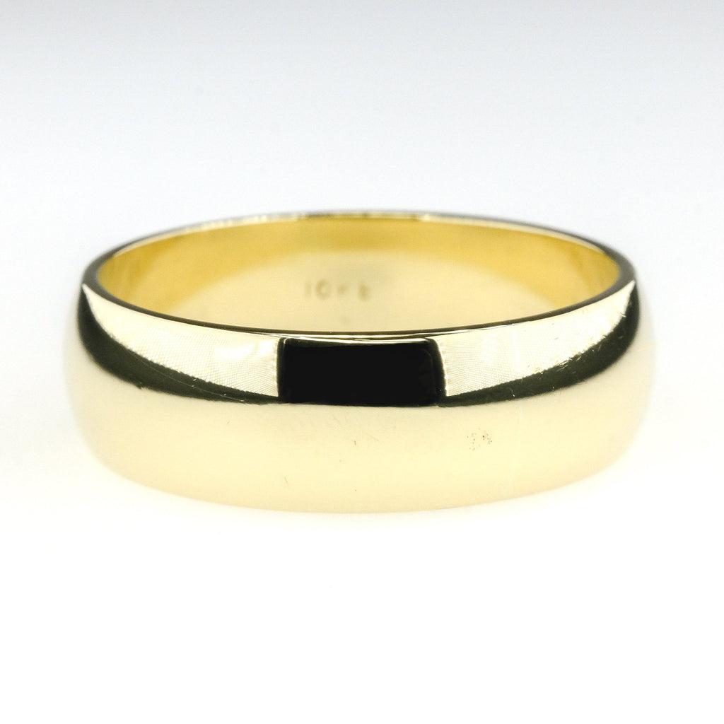 7mm Wide Half Round Plain Wedding Band Ring Size 11 in 10K Yellow Gold Wedding Rings Oaks Jewelry