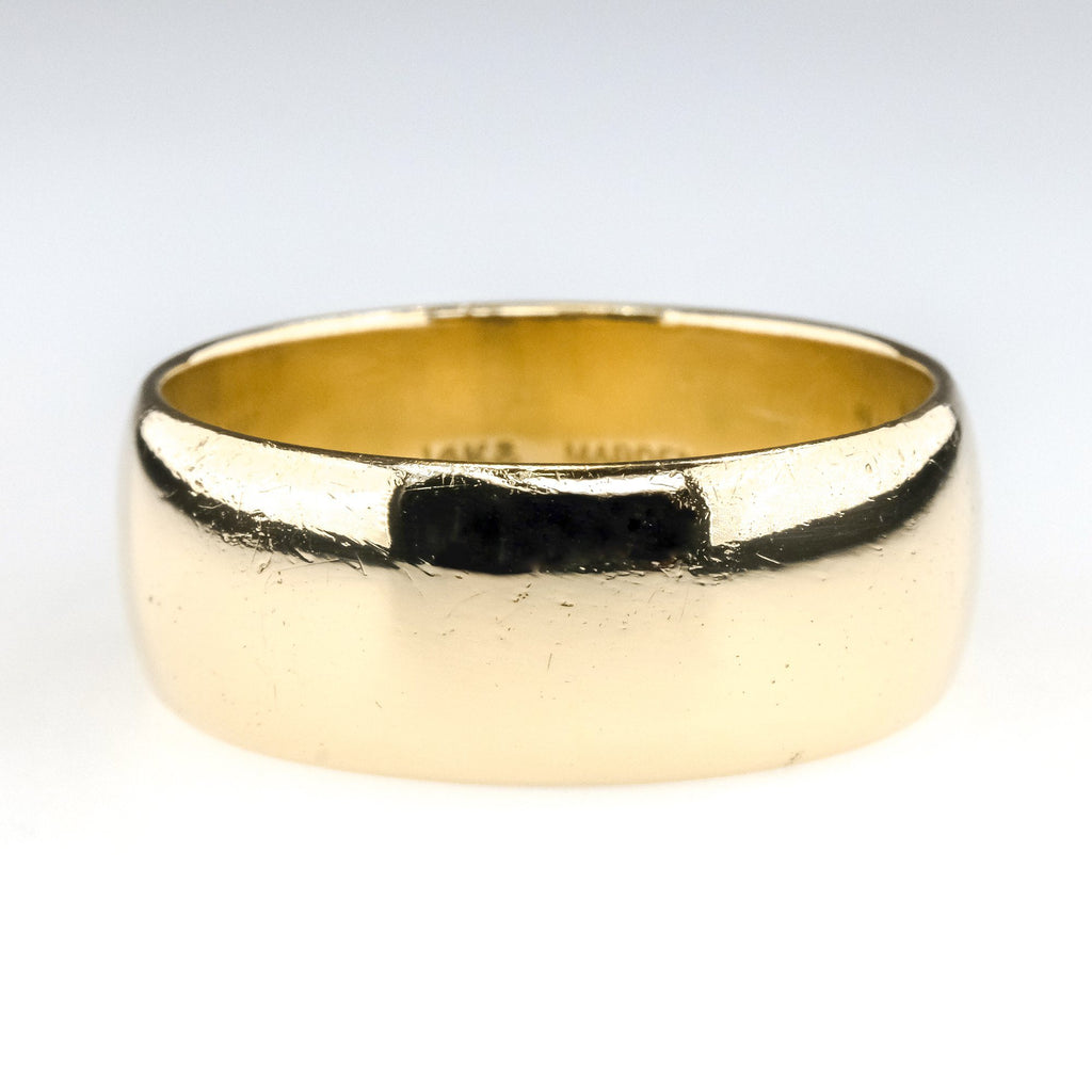 9.25mm Wide Half Round Wedding Band Ring Size 13 in 14K Yellow Gold Wedding Rings Oaks Jewelry