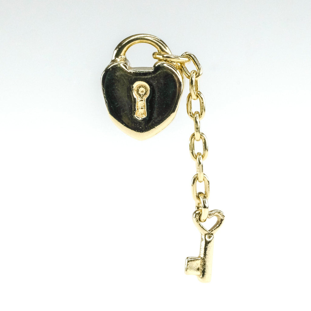 Authentic Pandora Key to My Heart Charm in 14K Yellow Gold 750341 Charms and Charm Bracelets Pandora
