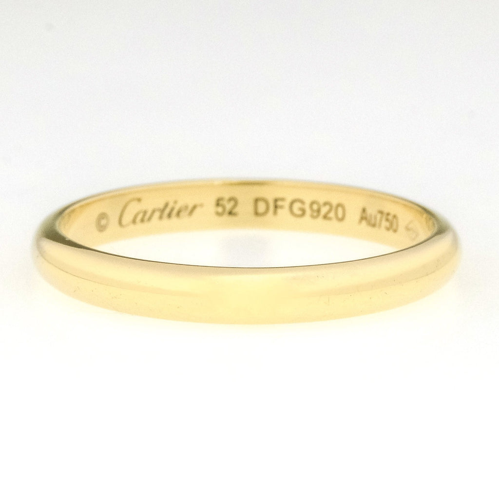 Cartier 1895 2.5mm Wide Half Round Wedding Band Ring in 18K Yellow Gold Wedding Rings Cartier