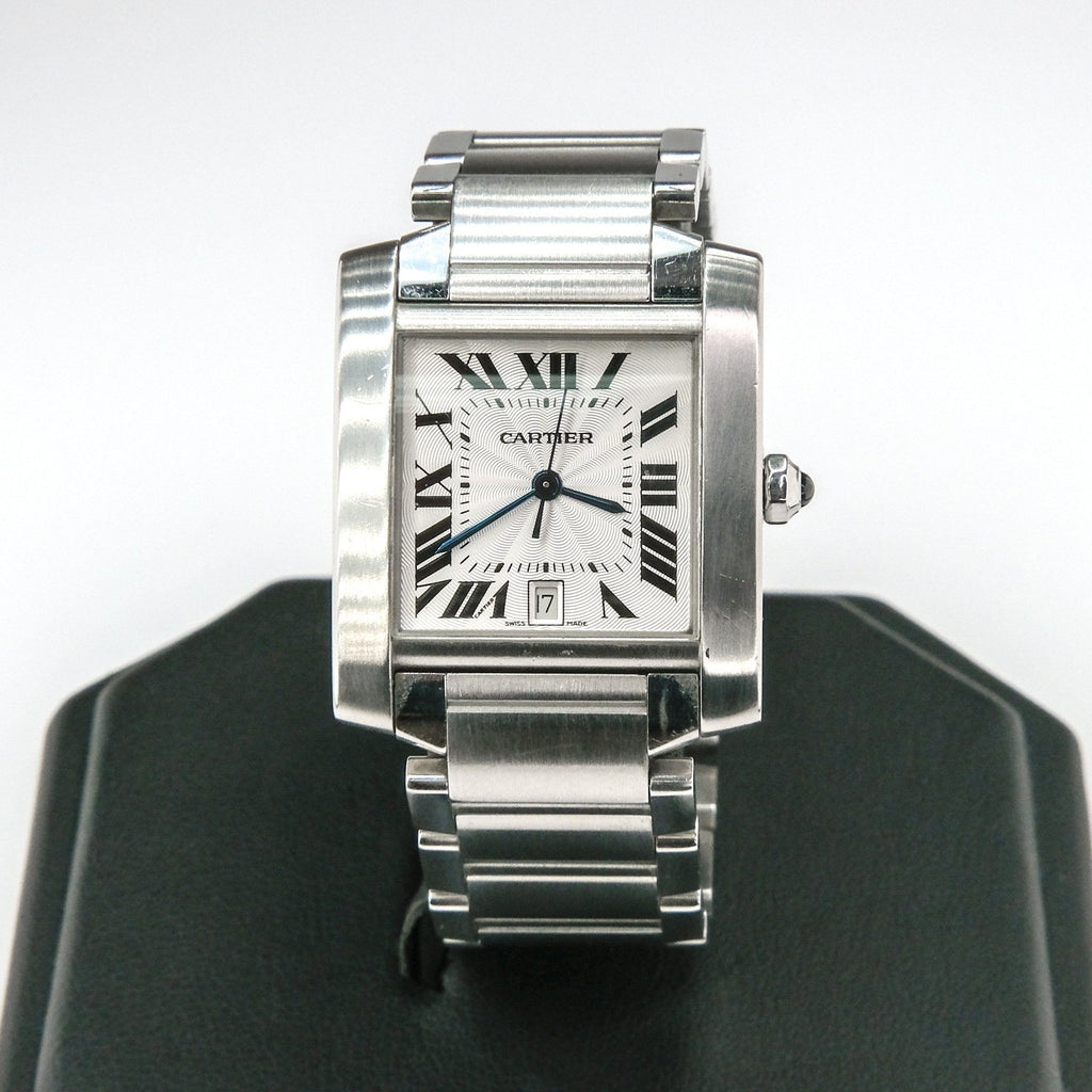 Cartier 2302 Stainless Steel Tank Francaise Rectangle Watch Watches Cartier