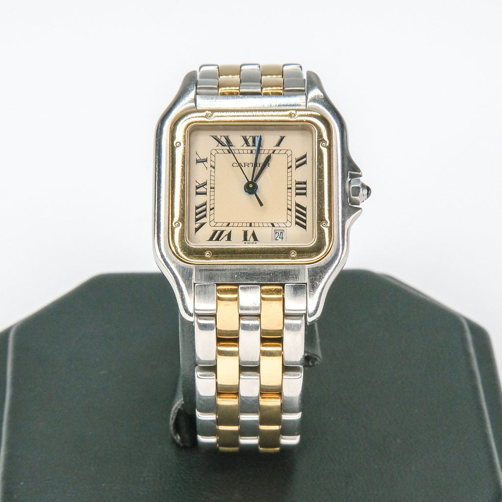 Cartier Ladies Panthere Stainless Steel & 18K Yellow Gold 187949 Watch w/Box Watches Cartier