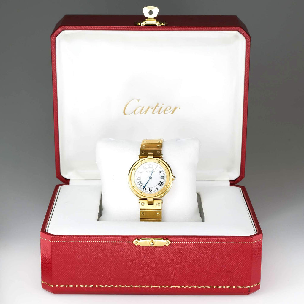 Cartier Santos W3315 18K Yellow Gold 32mm Quartz Watch Watches Cartier