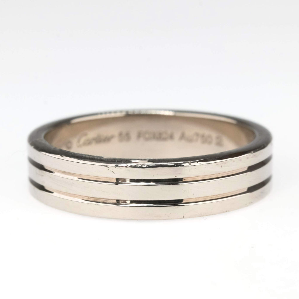 Cartier Trinity Wedding Band in 18K White Gold Wedding Rings Cartier