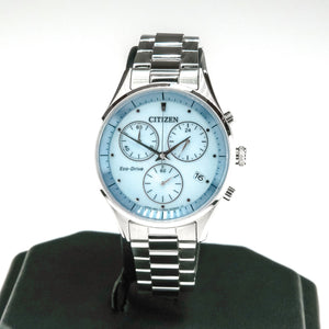 Citizen Eco-Drive Chandler Chronograph Ladies Stainless 32mm Watch FB1440-57L Watches Oaks Jewelry