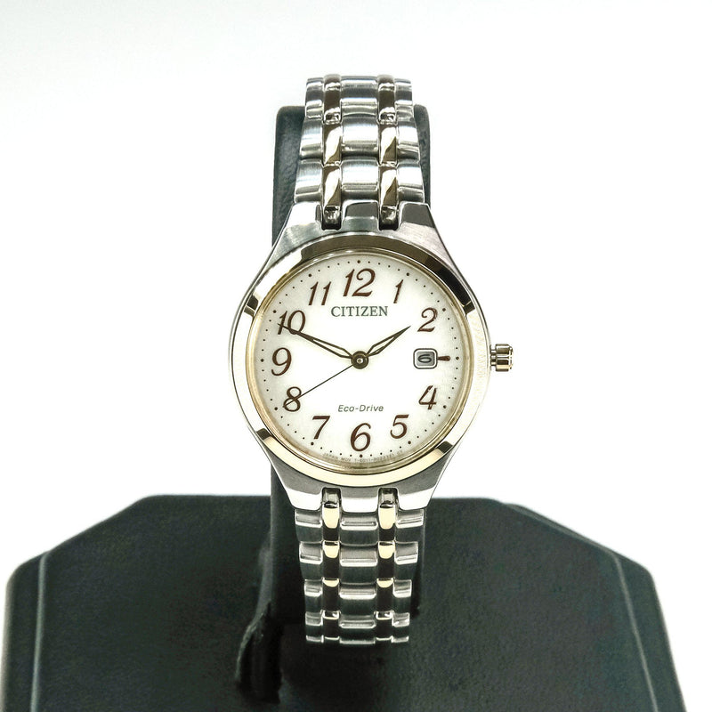 Citizen Eco-Drive White Dial Stainless Steel Ladies' 28mm Watch EW2486-52A Watches Citizen