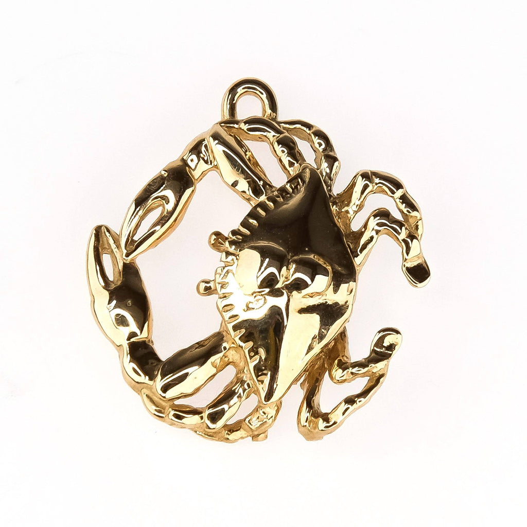 Crab Charm in 14K Yellow Gold Charms and Charm Bracelets Oaks Jewelry