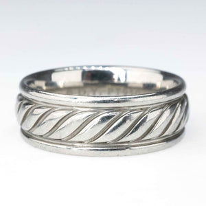 David Yurman Cable Classic Men's Wedding Band in Platinum Wedding Rings David Yurman