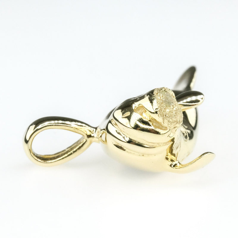 Detailed and Textured Manatee Pendant in 14K Yellow Gold - 5.7 grams Pendants Oaks Jewelry