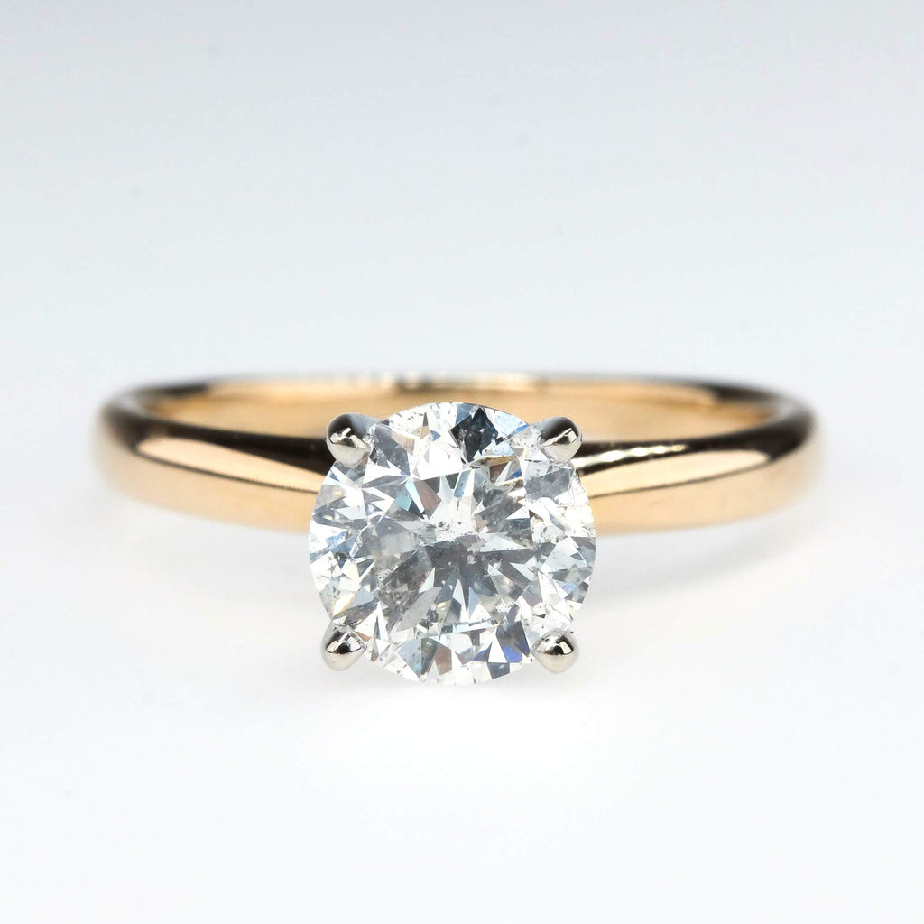 Diamond 0.94ct Solitaire Engagement Ring in 14K Yellow Gold Engagement Rings Oaks Jewelry